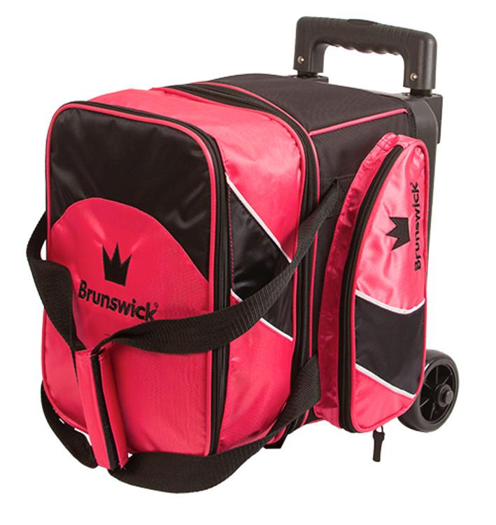 Brunswick Edge 1 Ball Single Roller Bowling Bag Pink