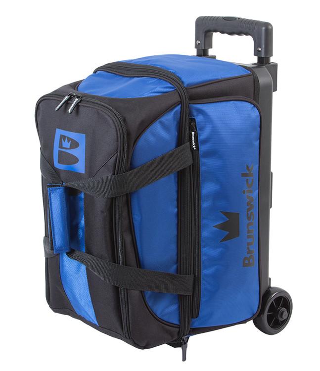 Brunswick Blitz 2 Ball Double Roller Bowling Bag Blue
