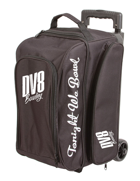 DV8 Freestyle 2 Ball Double Roller Bowling Bag Black