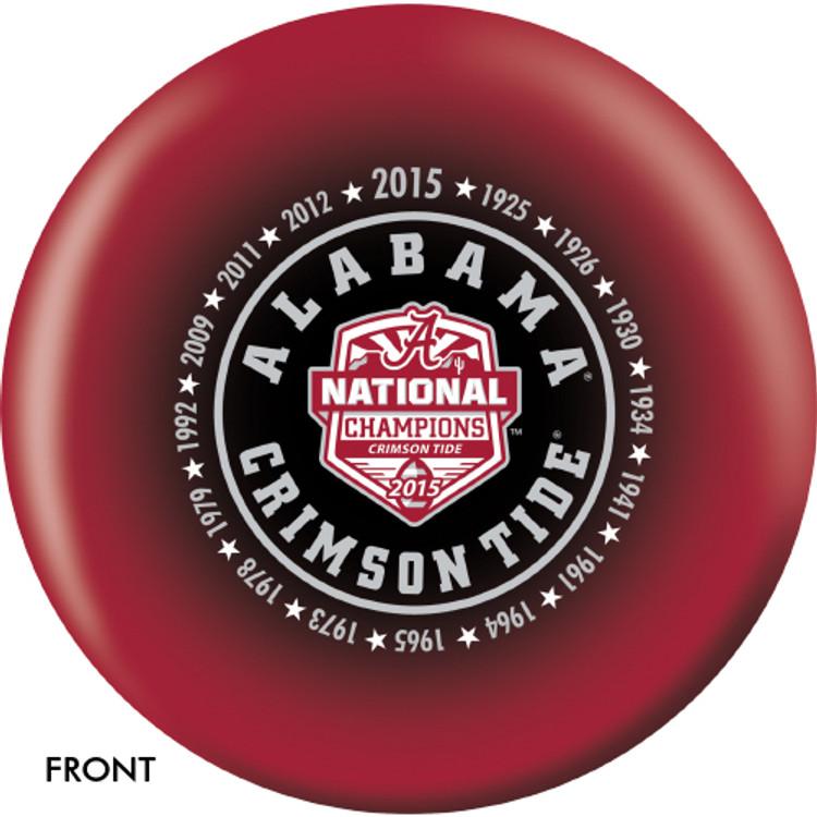 OTB NCAA Alabama 2015 National Champions Bowling Ball
