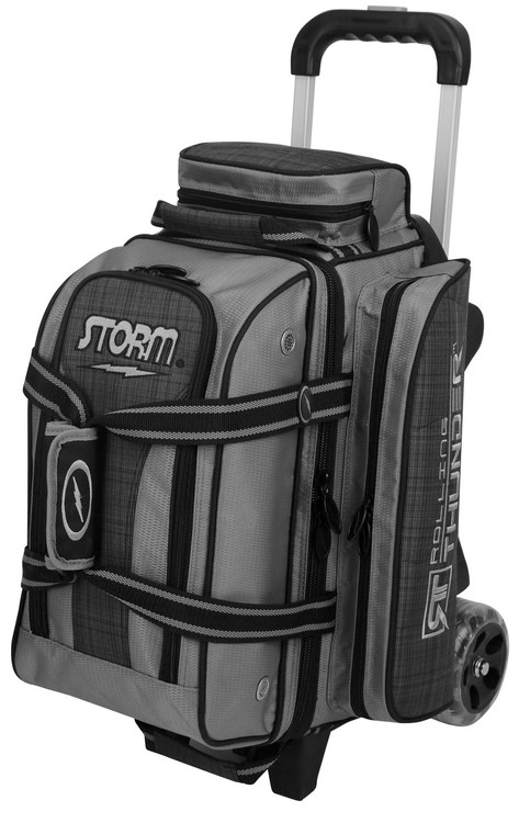 Storm Rolling Thunder 2-Ball Roller Bowling Bag Plaid Grey Black