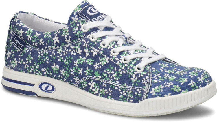 Dexter Katie Comfort Canvas Womens Bowling Shoes Blue Floral