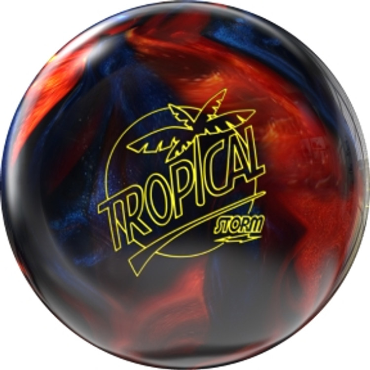 Storm Tropical Storm Blue Orange Bowling Ball