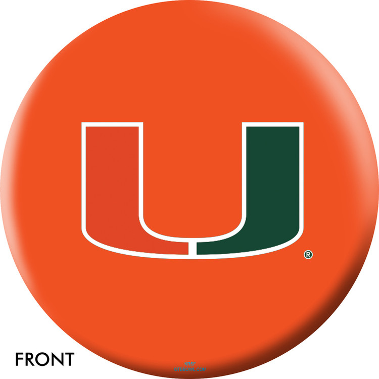 NCAA Miami Bowling Ball