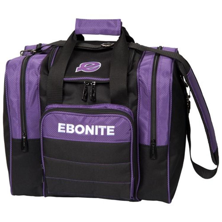 Ebonite Impact Plus Single Tote Bowling Bag Purple