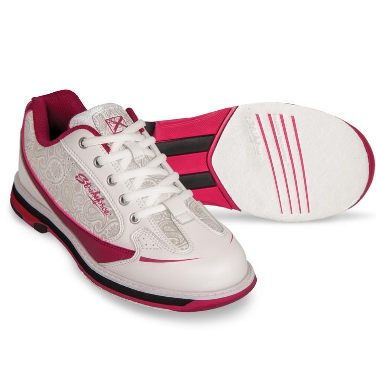 KR Strikeforce Curve Women's Bowling Shoes Scarlet Paisley