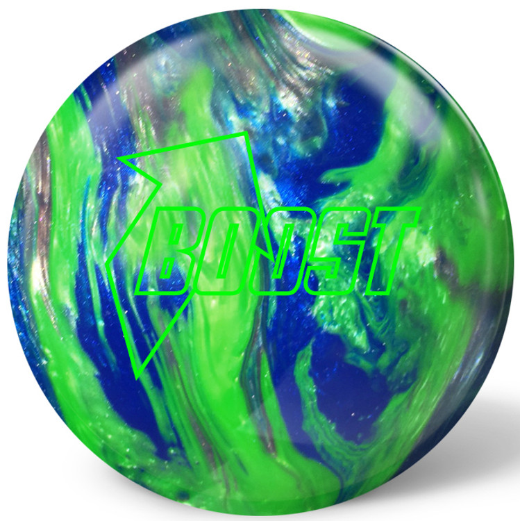Global Boost Bowling Ball Green Blue Silver