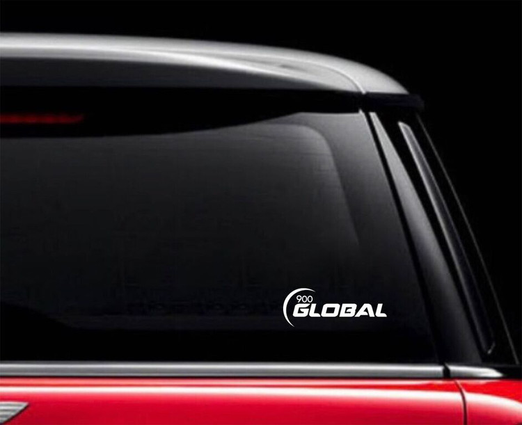 900 Global Classic Car Decal White