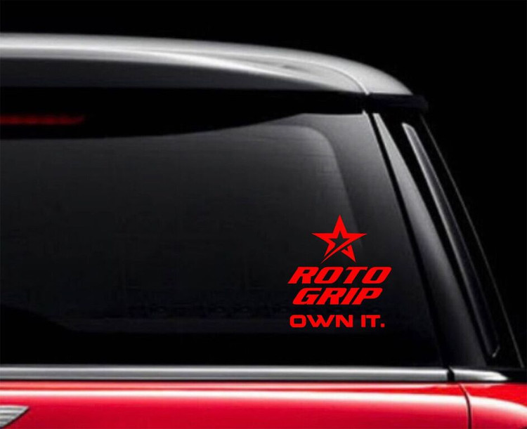 Roto Grip Own It Car Decal Red
