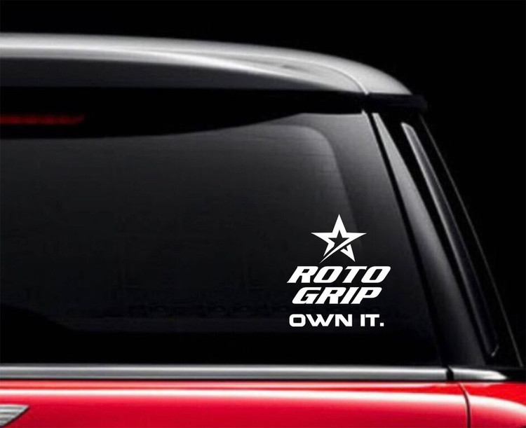 Roto Grip Own It Car Decal White