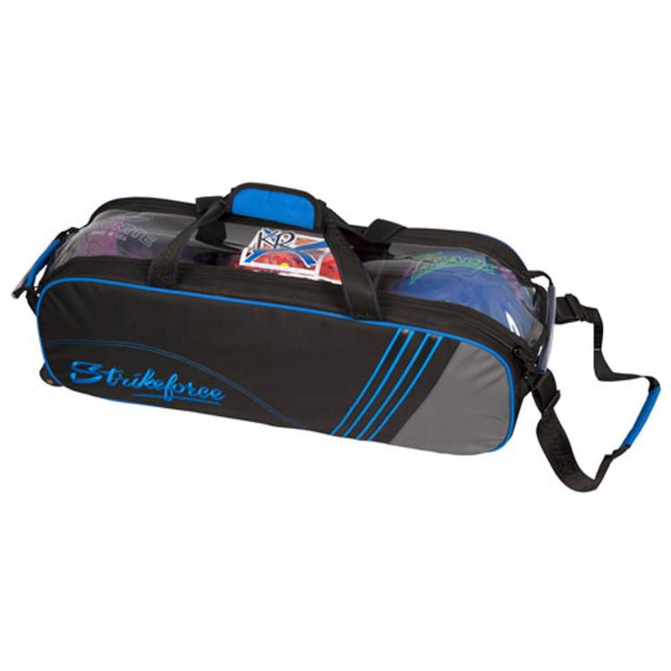 KR Lane Rover Inline Slim Roller Bowling Bag Black Grey Royal
