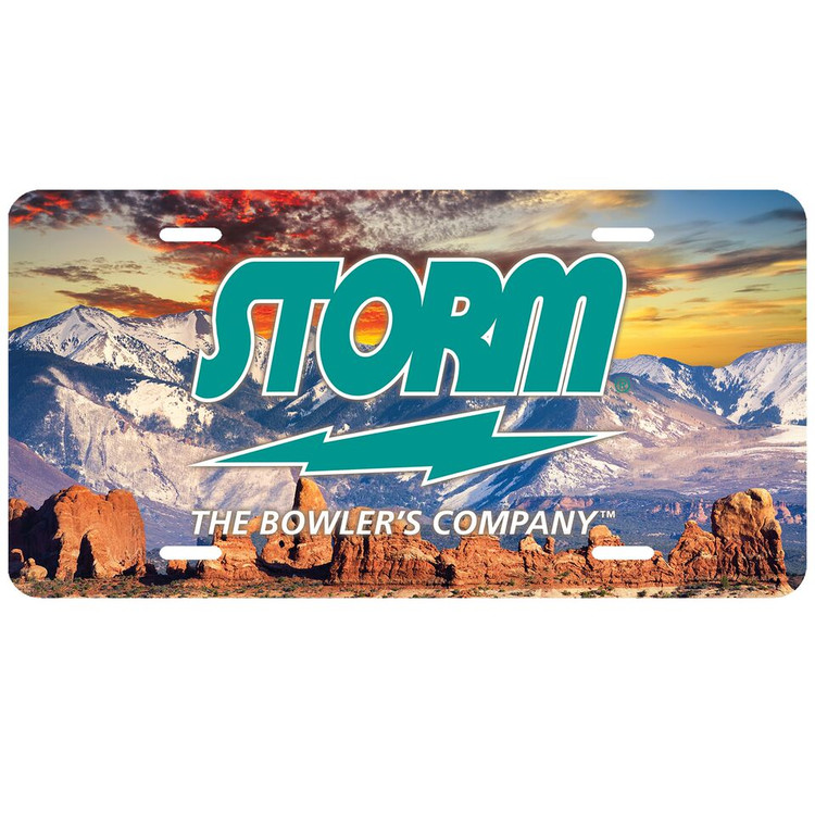 Storm Car License Plate Mountains