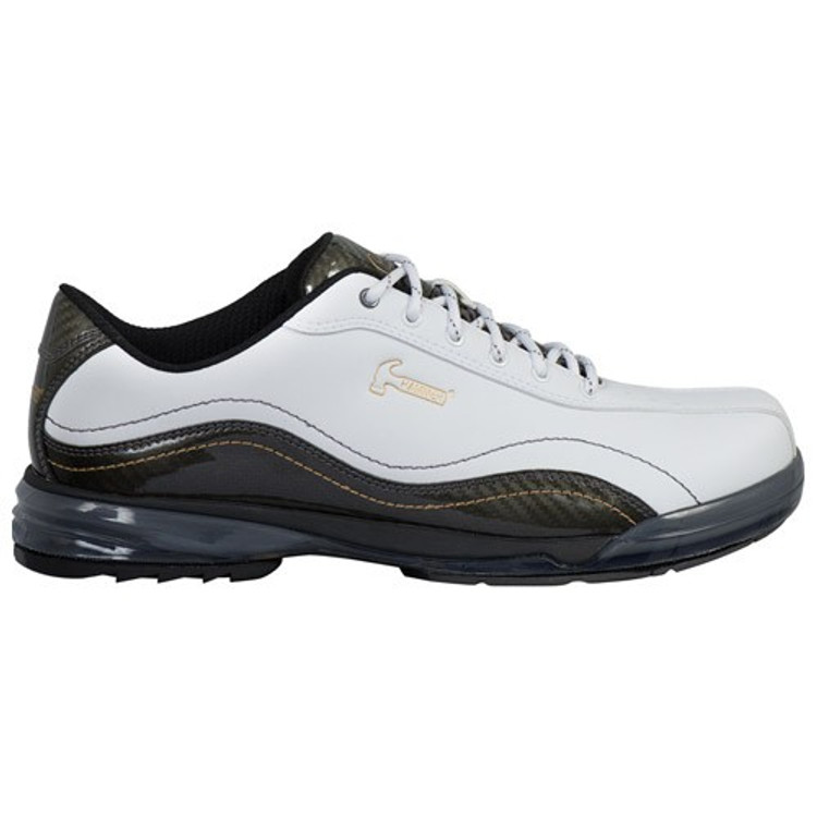 Hammer Force Mens Performance Bowling Shoes White Carbon Right Hand