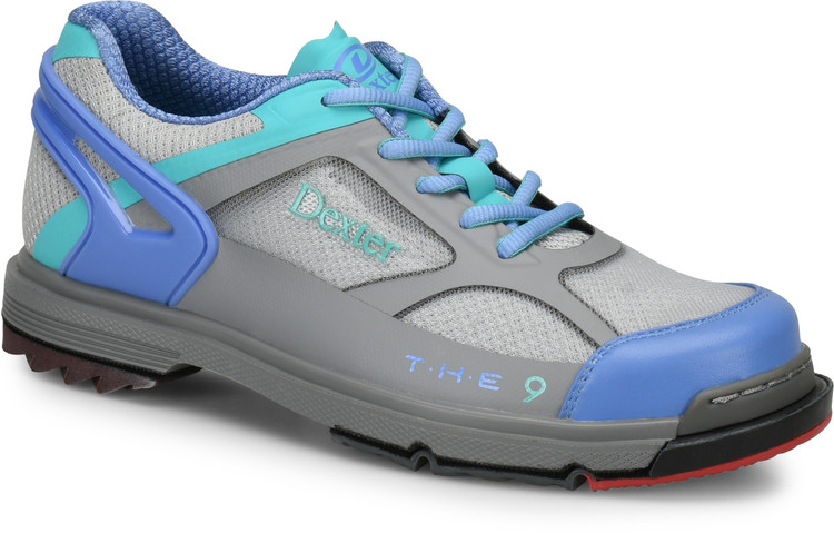 Dexter THE 9 HT Womens Bowling Shoes Grey Peri Aqua WIDE