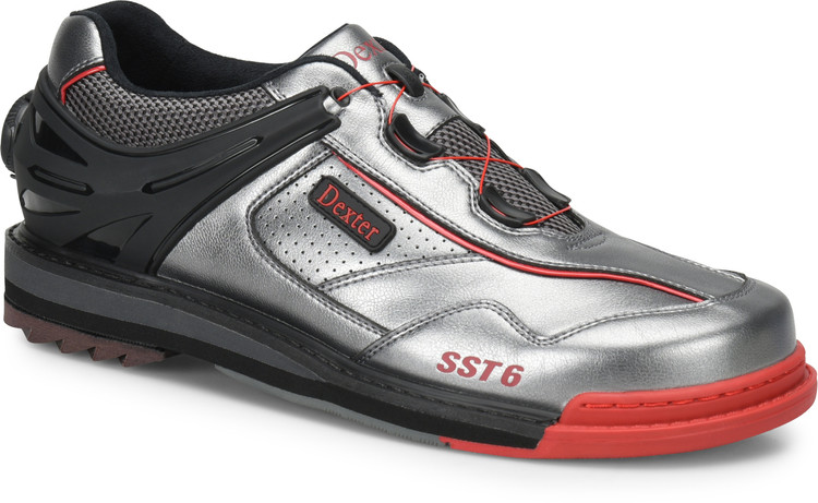 Dexter SST 6 Hybrid BOA Mens Bowling Shoes Left Hand Grey Black Red