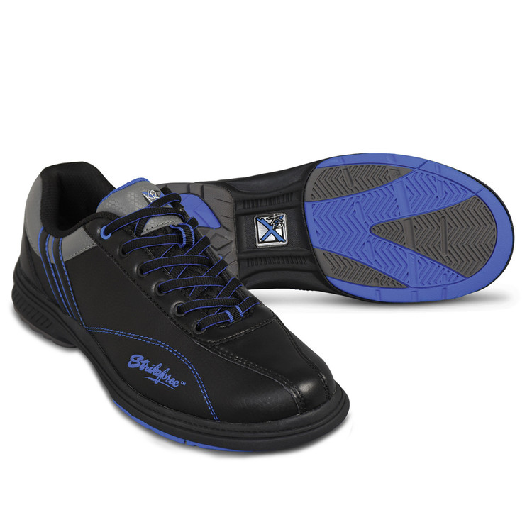 KR Strikeforce Raptor Mens Left Hand Bowling Shoes Black Royal