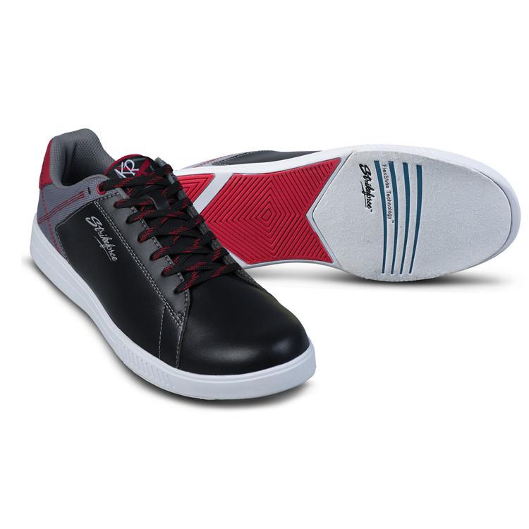KR Strikeforce Atlas Mens Bowling Shoes Black Grey Red