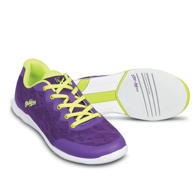 KR Strikeforce Lace Women's Bowling Shoes Purple Yellow