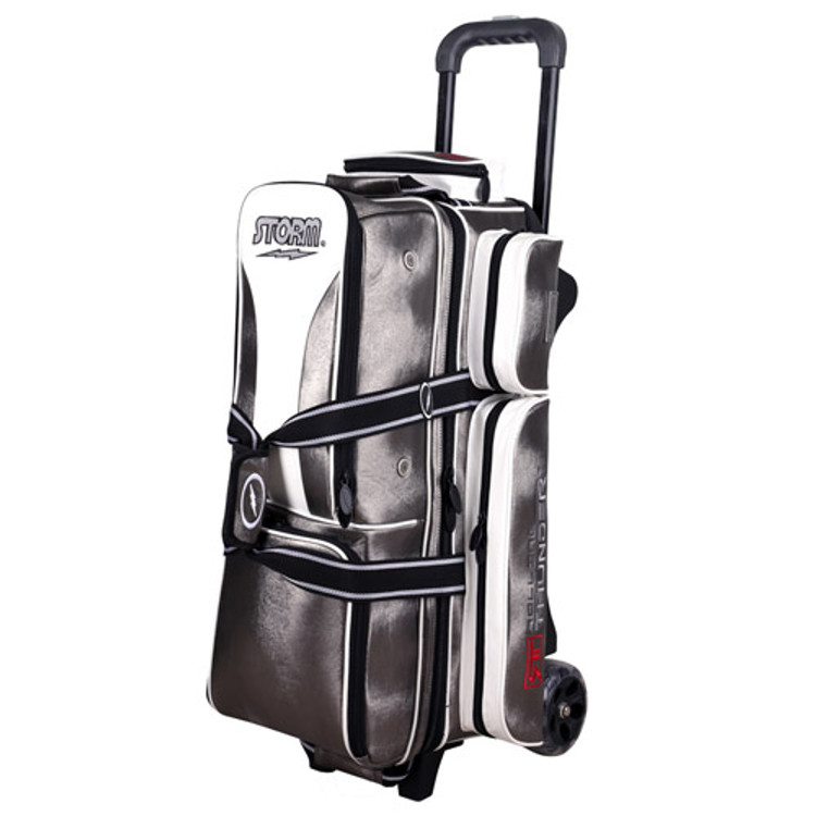 Storm Rolling Thunder 3-Ball Roller Bowling Bag Platinum Signature