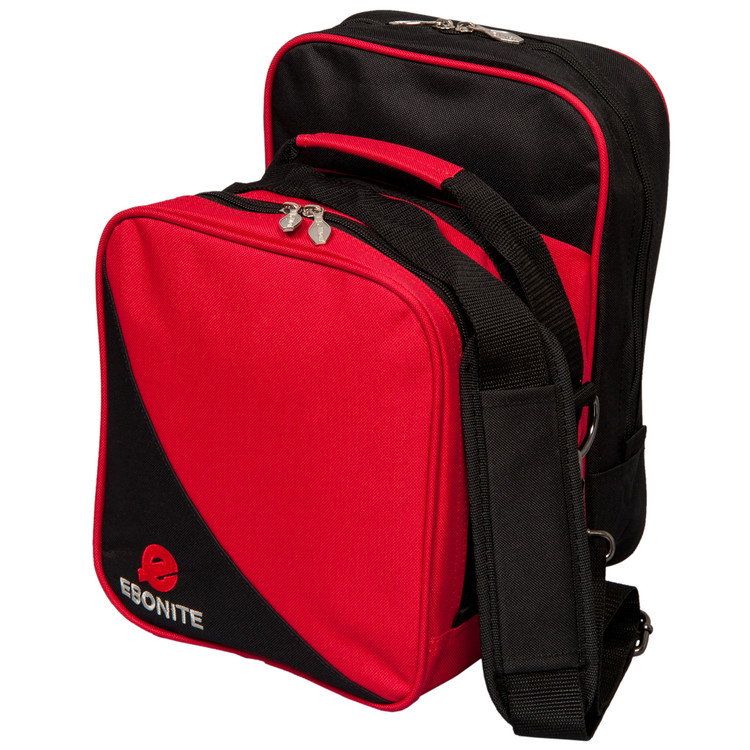 Ebonite Compact 1 Ball Single Tote Bowling Bag Red
