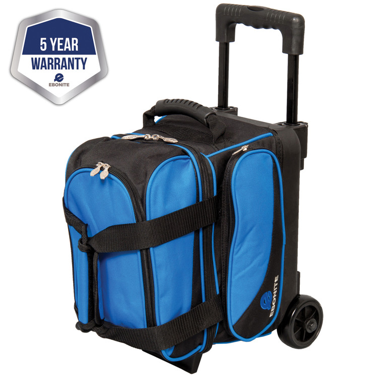Ebonite Transport 1 Ball Single Bowling Bag Roller Blue