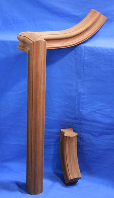 Shown in our K6110 walnut handrail