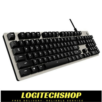 Logitech G413 Mechanical gaming keyboard Silver with advanced performance.