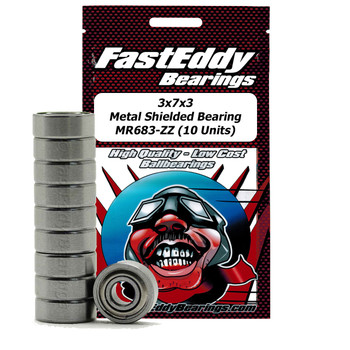 3x7x3 Metal Shielded Bearing MR683-ZZ (10 Units)