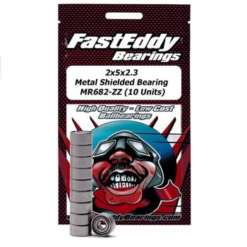 2x5x2.3 Metal Shielded Bearing MR682-ZZ (10 Units)