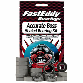 Accurate Boss Single Speed Fishing Reel Rubber Sealed Bearing Kit
