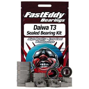 Daiwa T3 Complete w/Shaft Upgrade  Baitcaster Fishing Reel Rubber Sealed Bearing Kit
