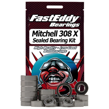 Mitchell 308 X Gold Fishing Reel Rubber Sealed Bearing Kit