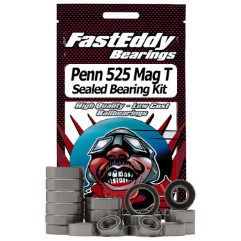 Penn 525 Mag T (New Version) Graphite Fishing Reel Rubber Sealed Bearing Kit