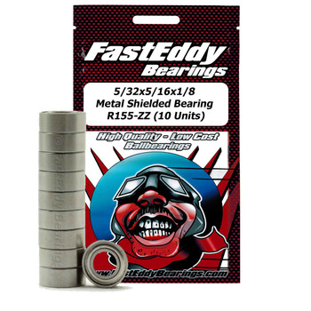 5/32x5/16x1/8 Metal Shielded Bearing R155-ZZ (10 Units)