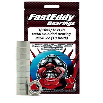 3/16x5/16x1/8 Metal Shielded Bearing R156-ZZ (10 Units)