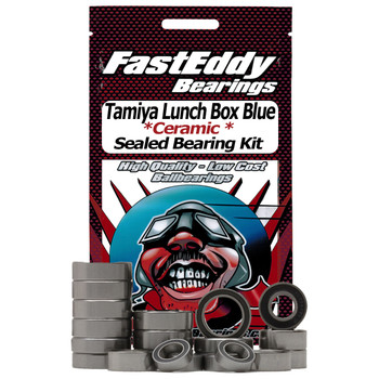 Tamiya Lunch Box Blue Style Ceramic Rubber Sealed Bearing Kit