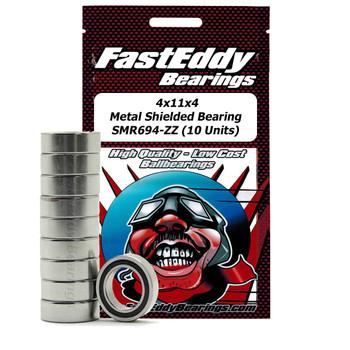 4X11X4 Metal Shielded Bearing SMR694-ZZ (10 Units)