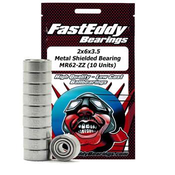 2x6x3.5 Metal Shielded Bearing MR62-ZZ (10 Units)