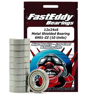 12x24x6 Metal Shielded Bearing 6901-ZZ (10 Units)