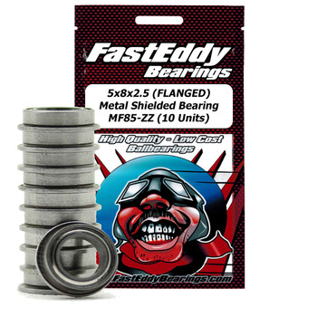 5x8x2.5 (FLANGED) Metal Shielded Bearing MF85-ZZ (10 Units)