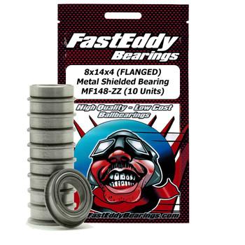 3x6x2.5 (FLANGED) Metal Shielded Bearing MF63-ZZ (10 Units)