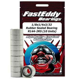 1/8x1/4x3/32 Rubber Sealed Bearing R144-2RS (10 Units)