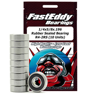 1/4x5/8x.196 Rubber Sealed Bearing R4-2RS (10 Units)