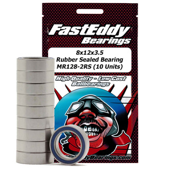 8x12x3.5 Rubber Sealed Bearing MR128-2RS (10 Units)