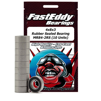 4x8x3 Rubber Sealed Bearing MR84-2RS (10 Units)