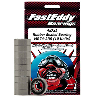 4x7x2 Rubber Sealed Bearing MR74-2RS (10 Units)