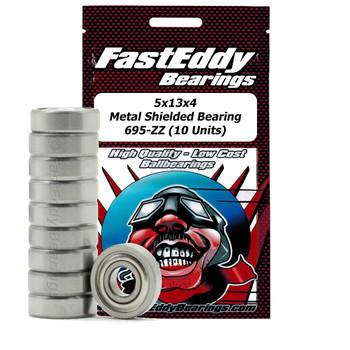 5x13x4 Metal Shielded Bearing 695-ZZ (10 Units)
