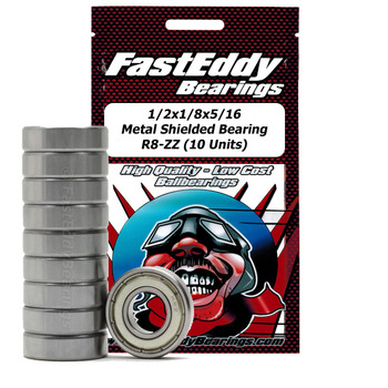 1/2x1/8x5/16 Metal Shielded Bearing R8-ZZ (10 Units)