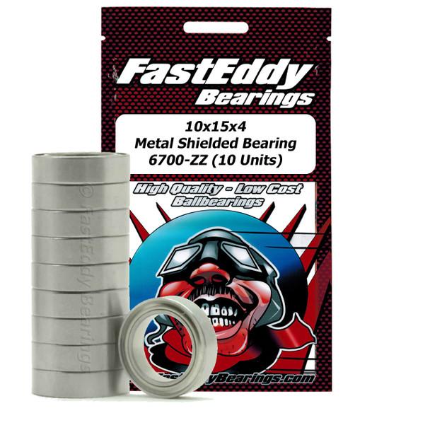10x15x4 Metal Shielded Bearing 6700-ZZ (10 Units)