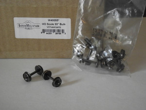 """Intermountain HO All Brass Insulated Wheel Sets, 33"""" wheels, pack of 100, W40055"""